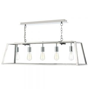 Dar Academy 5 Light Pendant Stainless Steel