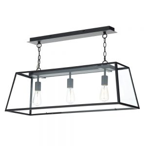Dar Academy 3 Light Pendant Black