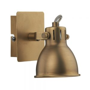 Dar Idaho 1 Light Wall Spotlight Natural Brass