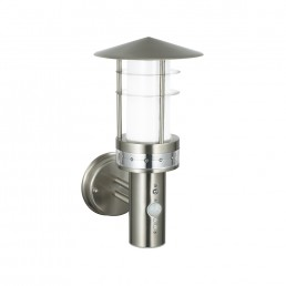 Endon Pagoda Pir LED Wall Light In Brushed Stainless Steel