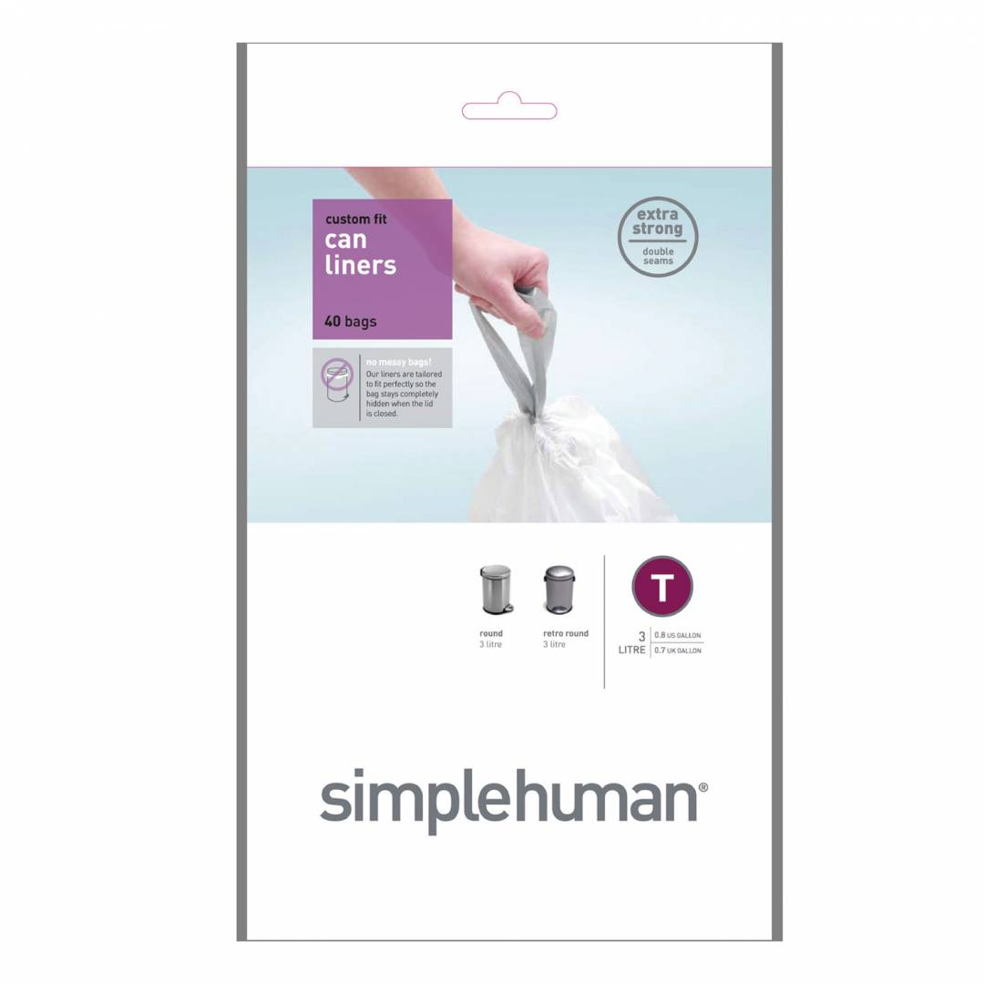 Simple Human 3L Type T Bin Liner