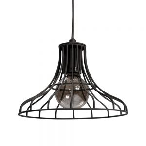 Bell Wire Pendant Dark Grey