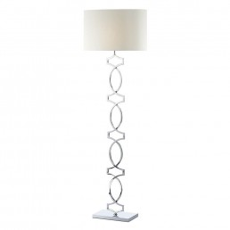 Dar Donovan Floor Lamp Polished Chrome