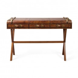 Havana Leather Console Table