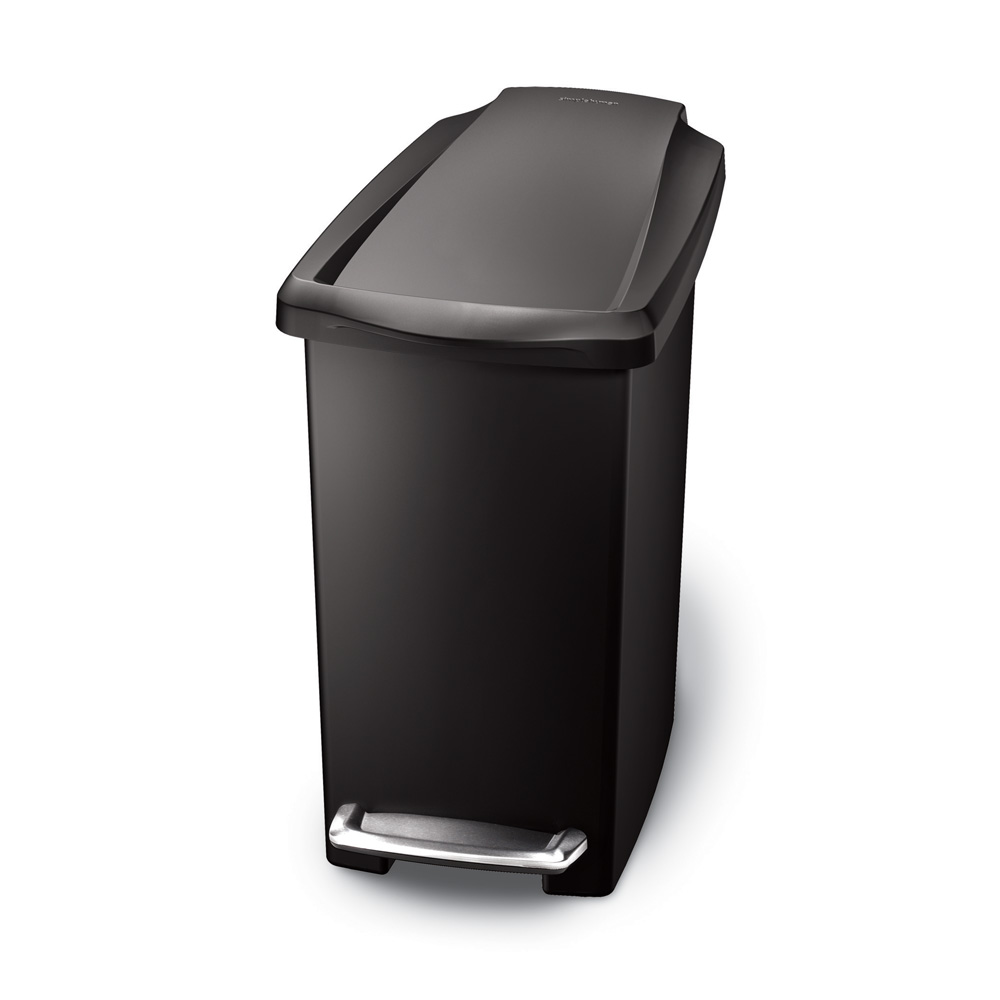 Simple Human 10L Slim Pedal Bin Black