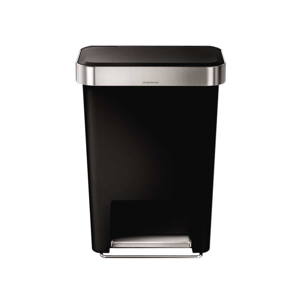 Simple Human 45L Rectangular Pedal Bin Black