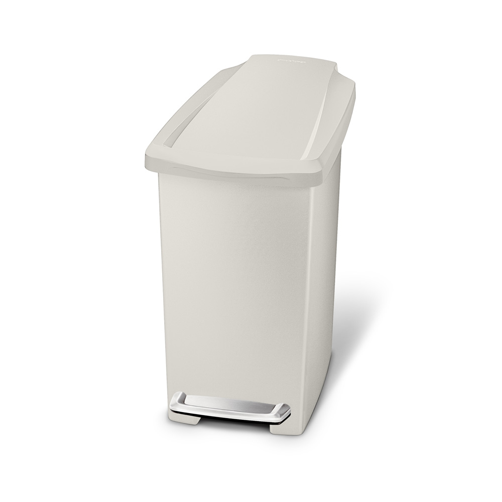 Simple Human 10L Slim Pedal Bin Stone