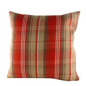 Stirling Check Cushion Red