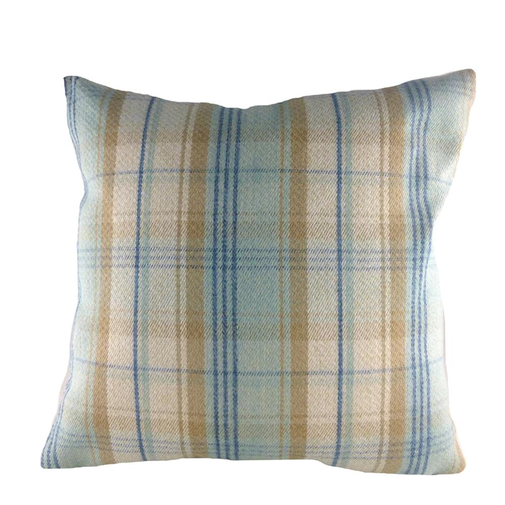 Stirling Check Cushion Blue