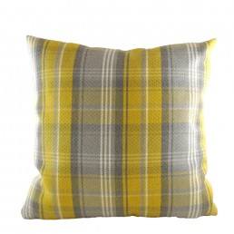 Stirling Check Cushion Yellow