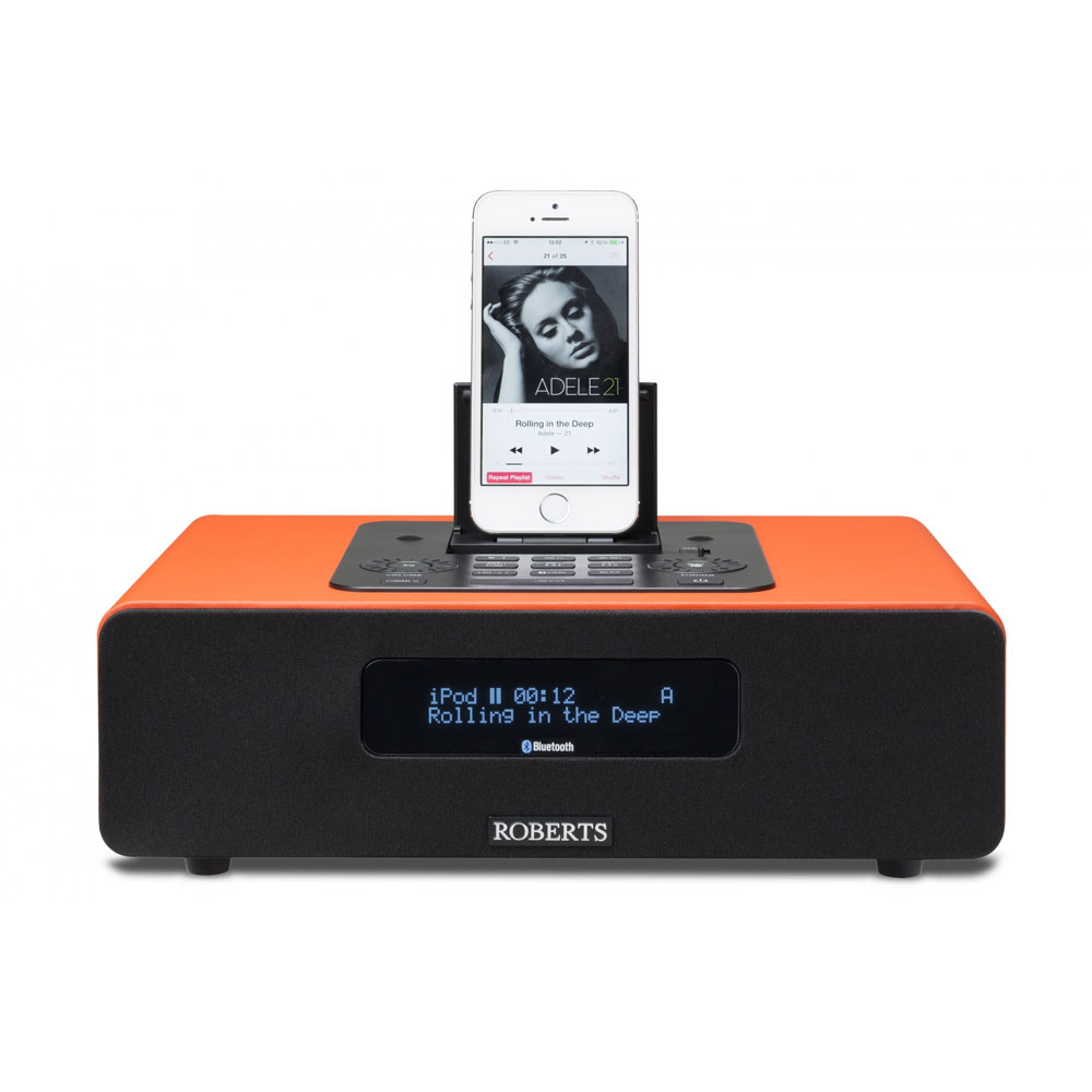 Roberts Blutune 65 Bluetooth Sound System With Dock Orange