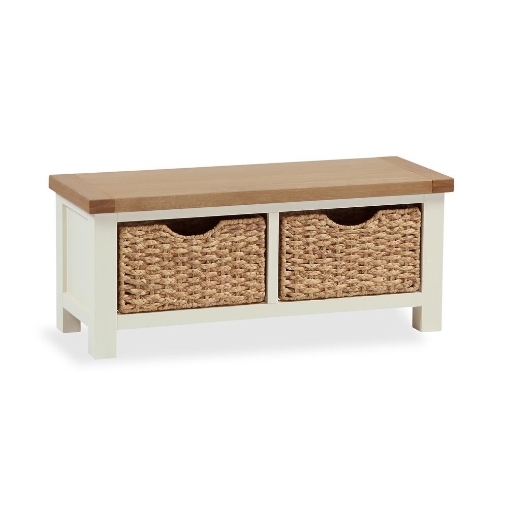 Southwold Small Bench With Bakset