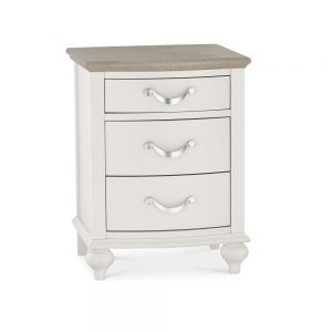 Monaco Grey Washed & Soft Grey 3 Drawer Nightstand