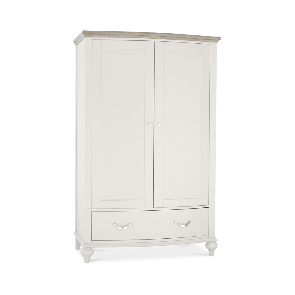 Monaco Grey Washed & Soft Grey Double Wardrobe