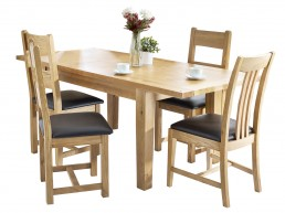 Colchester Small Extending Table and 4 Ladder Back Chairs