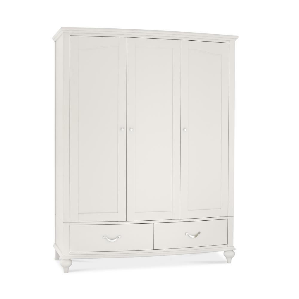 Monaco Soft Grey Triple Wardrobe