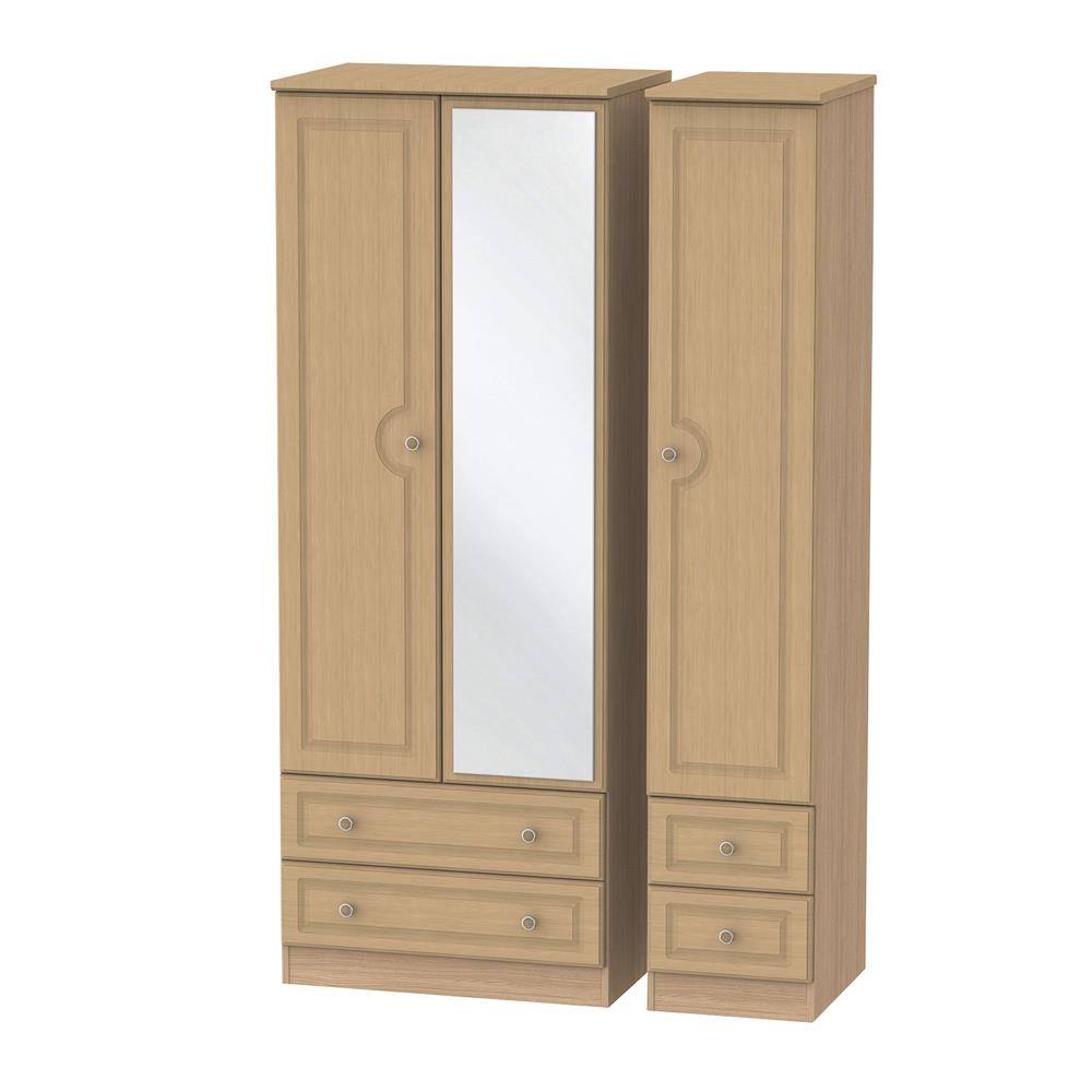 Portland Triple 2 Drawer Mirror & Drawer Robe