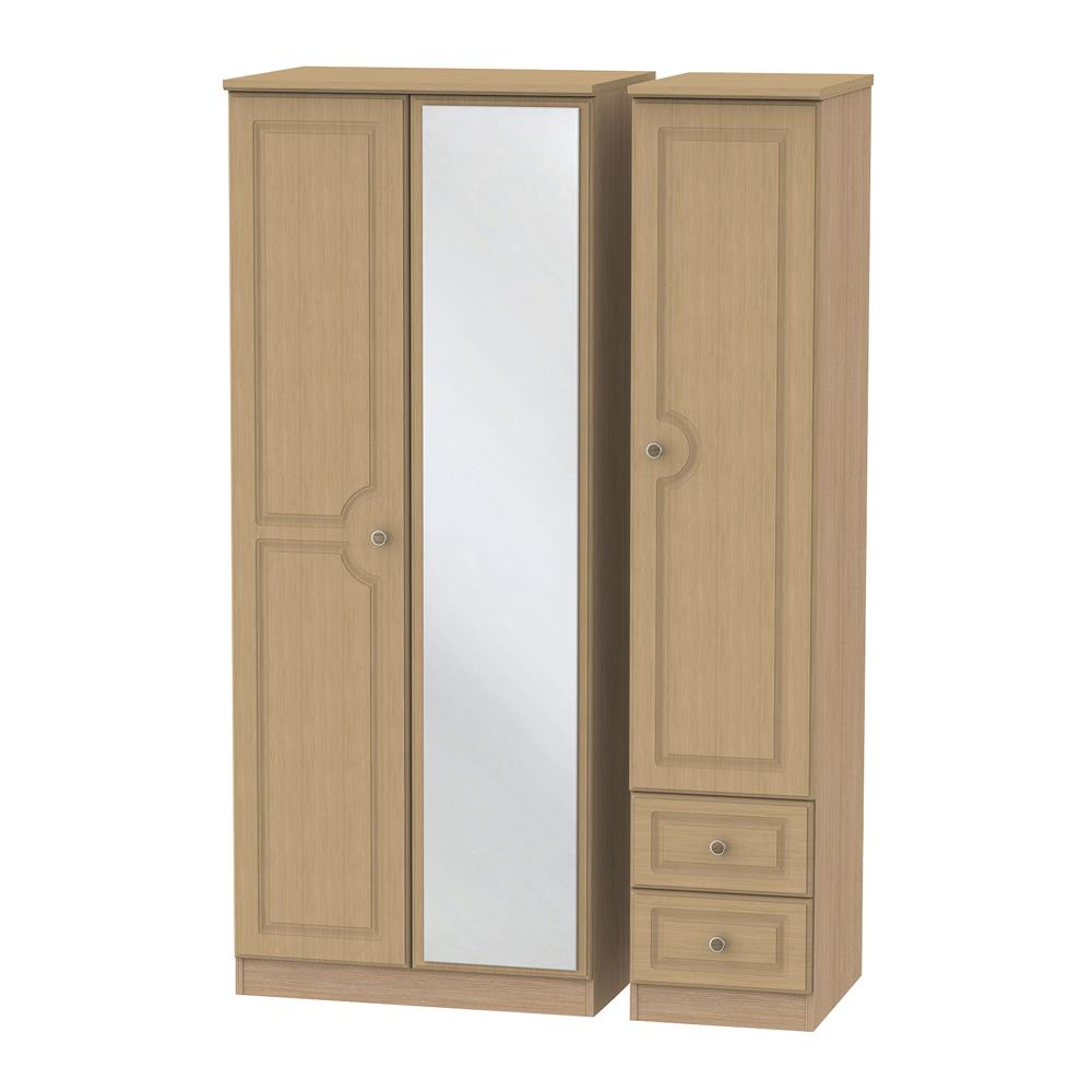 Portland Triple Mirror & Drawer Robe