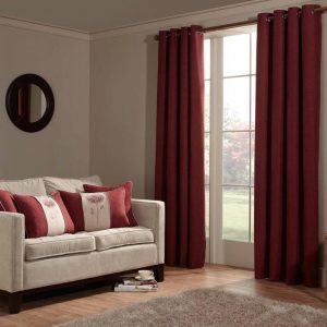 Anderson Readymade Curtains Red