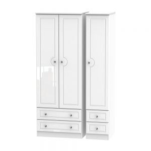 Boston Tall Triple 2 Drawer & Drawer Robe