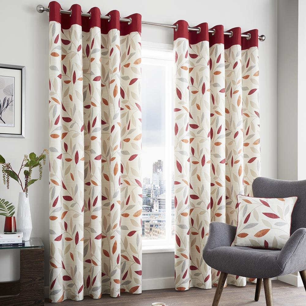 Beechwood Readymade Curtains Red
