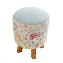 Voyage Monty Footstool Hedgerow Linen