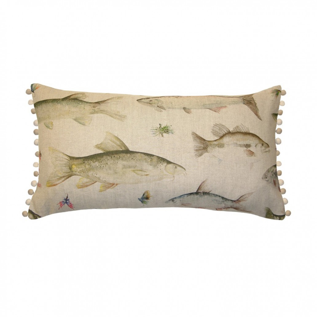 Voyage Swimming Salmon Cushion