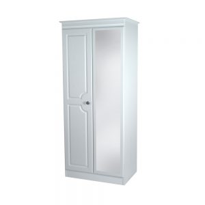 Portland Tall 2ft 6in 2 Drawer Mirror Robe