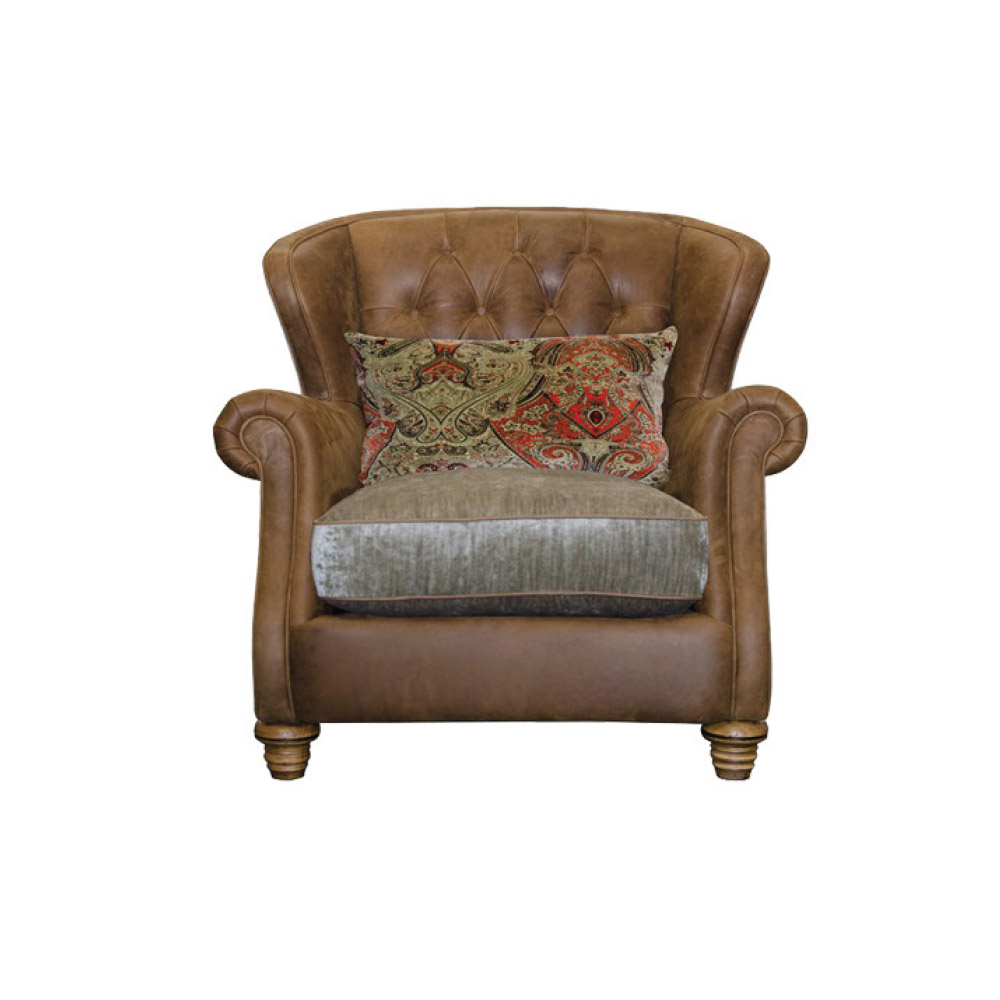 Roosevelt Wing Back Chair Fabric Seat