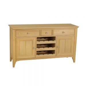 Stag New England Wide Sideboard With Wine Rack