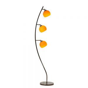 Danalight Cocoon 3 Light Floor Lamp Orange