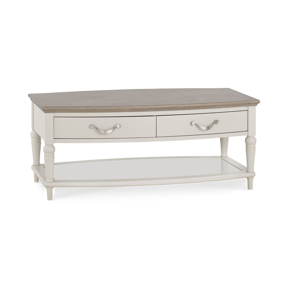 Monaco Grey Washed Oak and Soft Grey Coffee Table