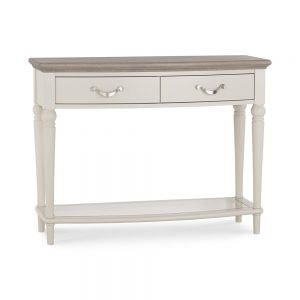 Monaco Grey Washed Oak and Soft Grey Console Table