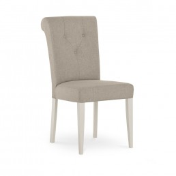 Monaco Grey Washed Oak and Soft Grey Upholstered Dining Chair – Pebble Grey (Pair)