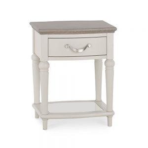 Monaco Grey Washed Oak and Soft Grey Lamp Table