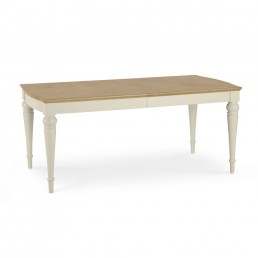 Monaco Pale Oak and Antique White 6-8 Extension Table
