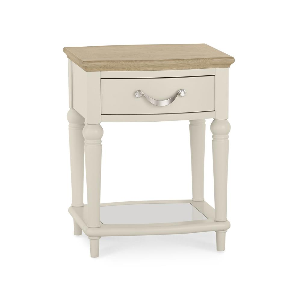 Monaco Pale Oak and Antique White Lamp Table