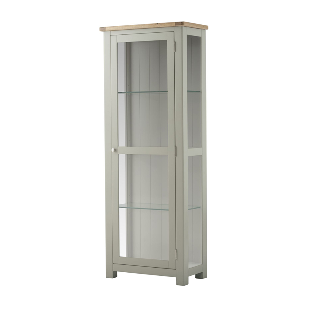 Pemberley Glazed Display Cabinet Stone
