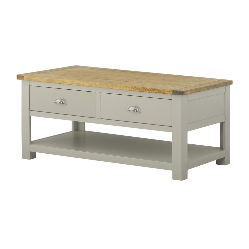 Pemberley Coffee Table With Drawer Stone