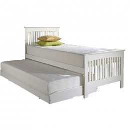Relyon Juno Storabed with Open Coil Mattress White Finish