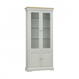 Stag Crompton Glazed Bookcase With 2 Doors