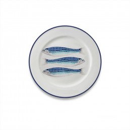 Harlequin Side Plate Blue