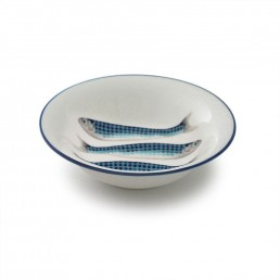 Harlequin Cereal Bowl Blue