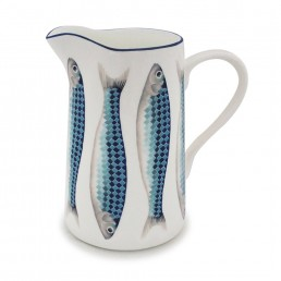 Harlequin Large Jug Blue