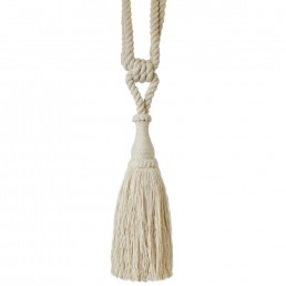 Large Tassel Tieback Natural