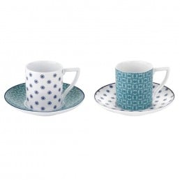 Portmeirion Ted Baker Ancona II Espresso Cups & Saucers Set Of 2
