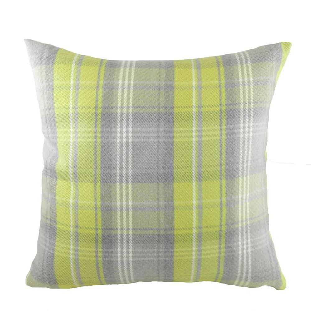 Stirling Check Cushion Green/Grey