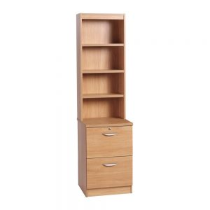 Home Office 2 Drawer Filing Cabinet With Hutch