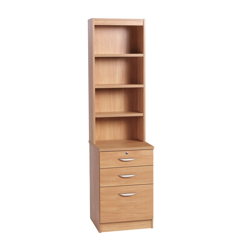 Home Office 3 Drawer Filing Cabinet With Hutch