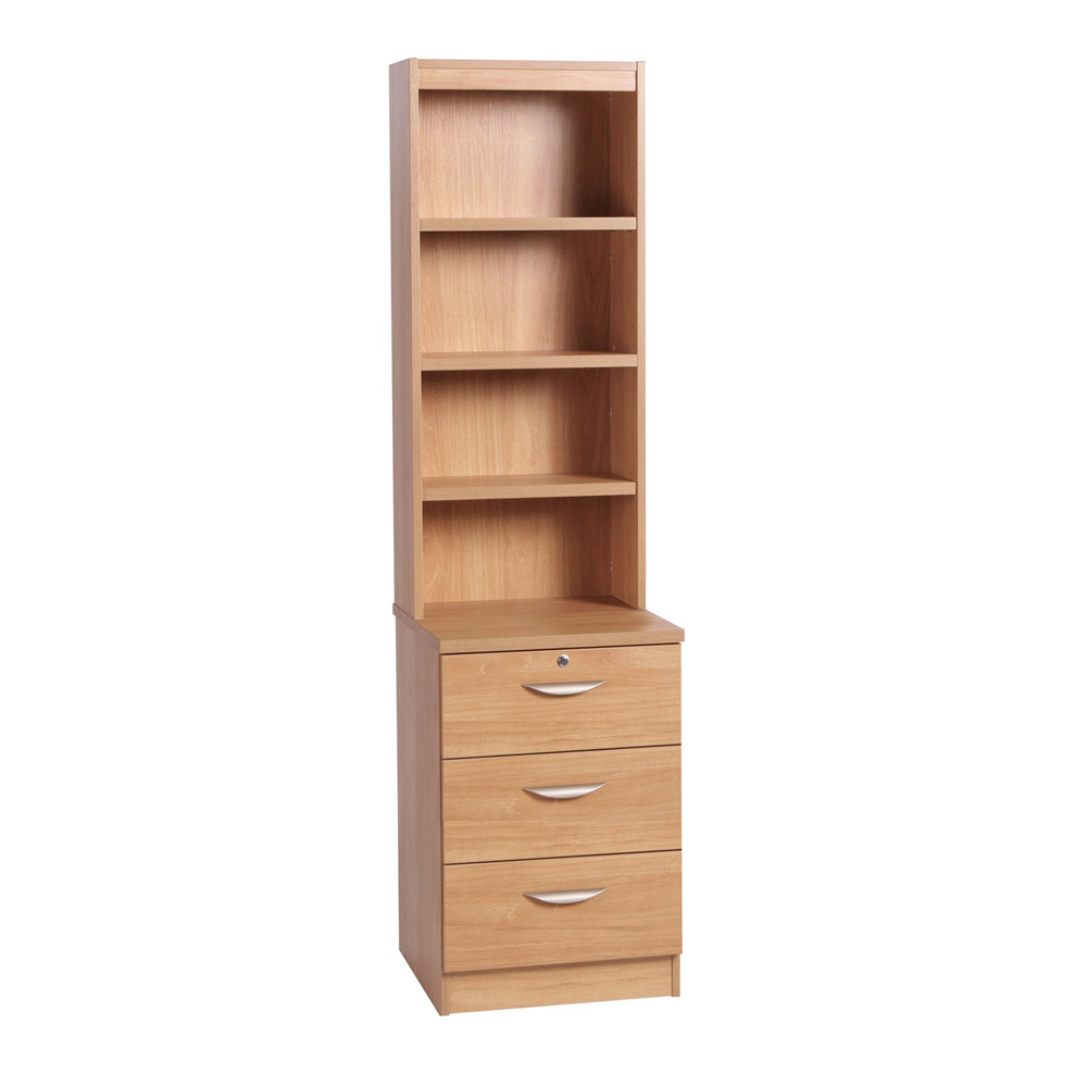 Home Office 3 Drawer CD/DVD Storage Unit With Hutch